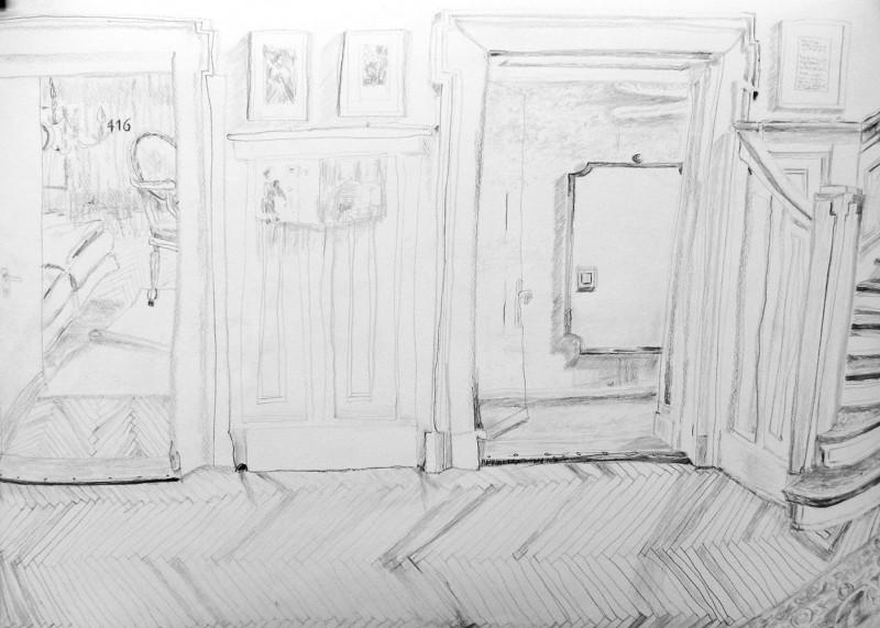 Zeichnung 3 Hotel Bogota